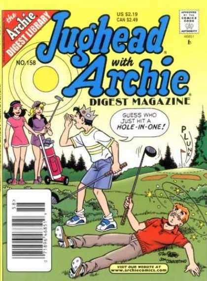 Jughead with Archie Digest 158 - Comics Code - Girls - Boys - Hole-in-one - Field