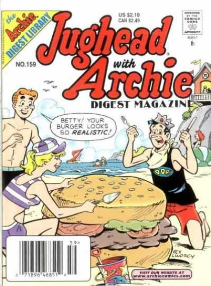 Jughead with Archie Digest 159 - Sand - Water - Beach - Shore - Realistic
