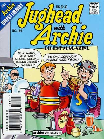 Jughead with Archie Digest 186 - Boys - Burger - Grill - Soda - Booth