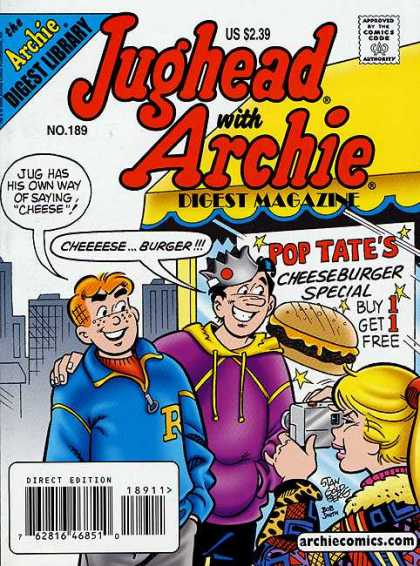 Jughead with Archie Digest 189 - Camera - Photo - Posing - Cheeseburger - Town - Stan Goldberg