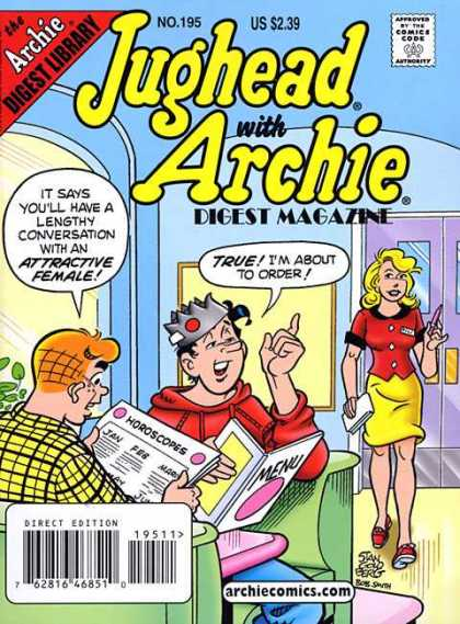 Jughead with Archie Digest 195 - No 195 - Jughead - Archie - Horoscopes - Resturant - Stan Goldberg