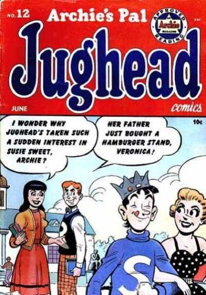 Jughead 12 - Archies Pal - Veronica - Betty - Clouds - Hamburger Stand
