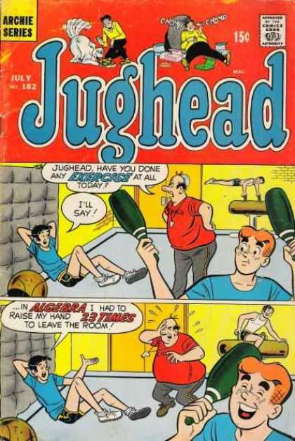 Jughead 181 - Balance Beam - Algebra - Exercise - Bowling Pins - Red Shirt