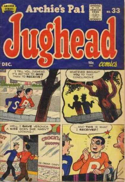 Jughead 33 - Archie - Veronica - Black Eye - Tree - Ice Cream Shop