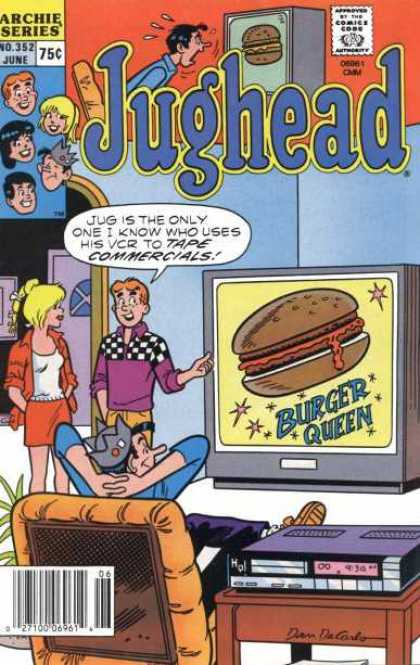 Jughead 352 - Burger Queen - Vcr - Commercial - Television - Chair