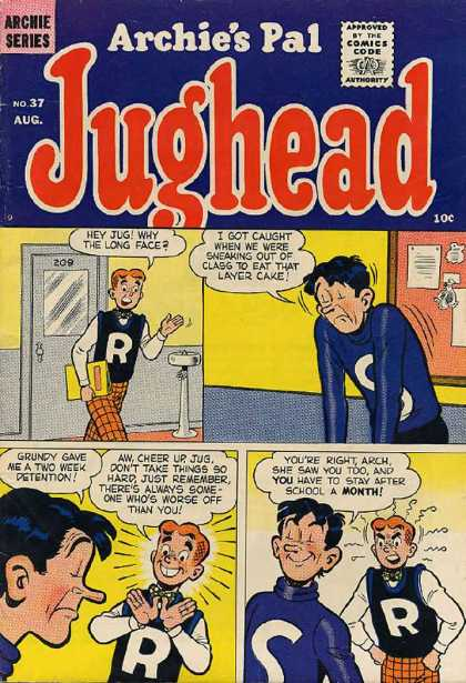 Jughead 37 - Archie - Layer Cake - Detention - High School - Long Face