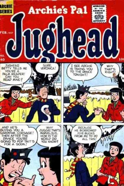 Jughead 40 - Archies Pal - Palm Reader - Veronica - Snow - Gardenia Corsage - Stan Goldberg