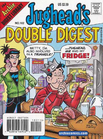 Jughead's Double Digest 102 - Betty - Im Also Involved In A Triangle - Jughead - Me And My Fridge - Icecream