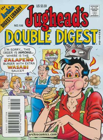 Jughead's Double Digest 106 - Jalpeno Burger - Diner - Waiter - Flames - Wasabi