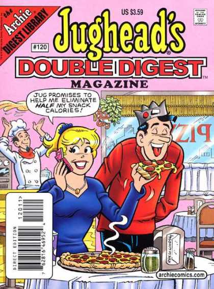 Jughead's Double Digest 120 - Archie - Pizza - Tasty - Cell Phone - Cook