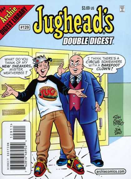 Jughead's Double Digest 129 - High School - Mr Weatherbee - Lockers - Sneakers - Principal