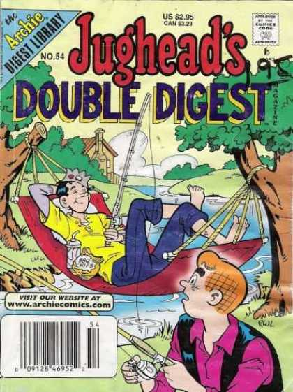 Jughead's Double Digest 54 - Archie - Stream - Fishing Pole - Hammock - Trees