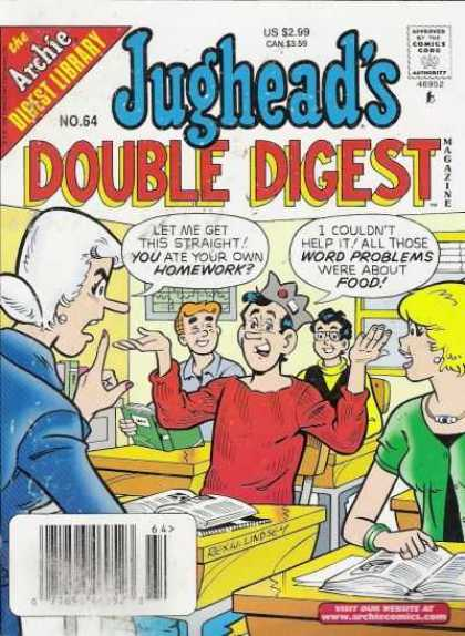 Jughead's Double Digest 64 - Archie - Friends - School Teacher - Homework - Word Problems