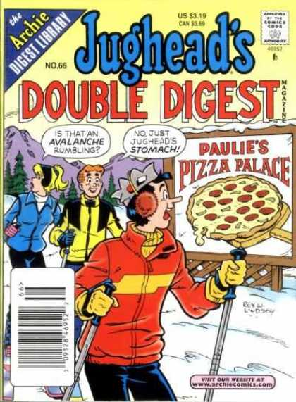 Jughead's Double Digest 66 - The Archie Digest Library - No 66 - Us 319 - Can 349 - Paulies Pizza Palace