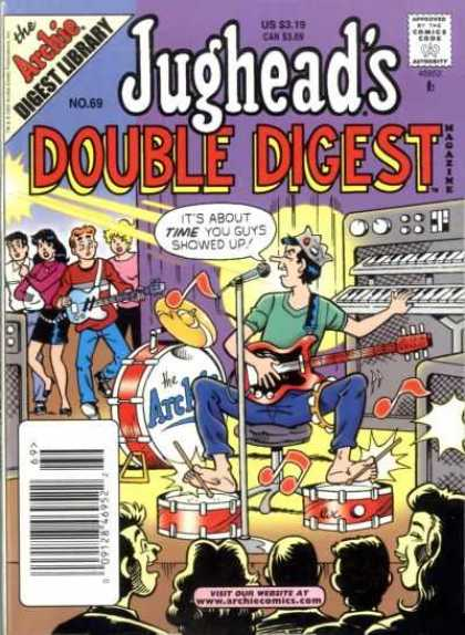 Jughead's Double Digest 69 - Band - Guitar - Veronica - Audience - Drums
