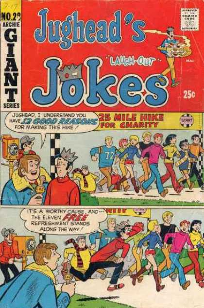 Jughead's Jokes 28 - Laugh-out - 12 Good Reasons - Charity - Hike - Archie Giant Series