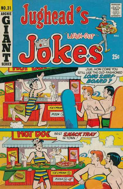 Jughead's Jokes 31 - Arhie Giant Series - Long Surfboard - Ice Cream - Pizza - Laugh-out