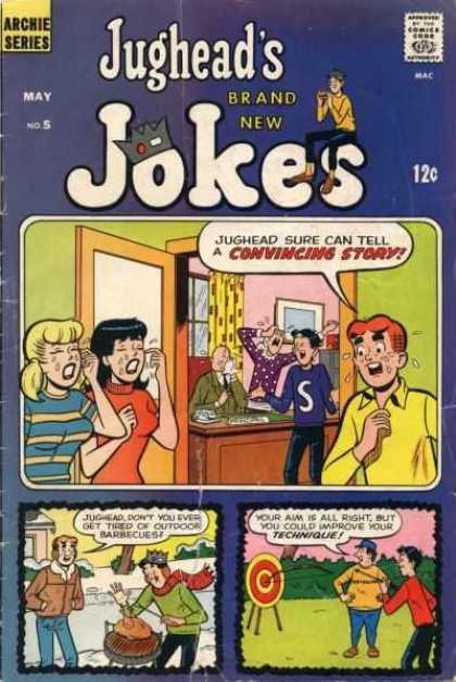 Jughead's Jokes 5 - Archie Comics - Betty And Veronica - Archery - Crying - Barbecues