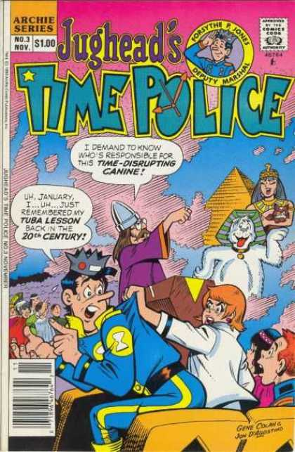 Jughead's Time Police 3 - Archie Series - Approved By The Comics Code - Woman - Pyramid - Dog - Gene Colan, Jon D'Agostino