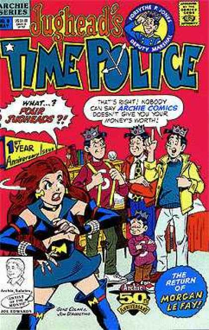 Jughead's Time Police 6 - Archie Series - Boys - Girl - 1st Year Aniversary Issue - The Return Of Morgan Le Fay - Gene Colan, Jon D'Agostino