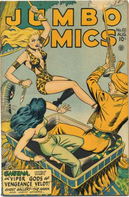 Jumbo Comics 102 - Elephant - Flying Death - Full Power - Gun Fight - Longhair Women