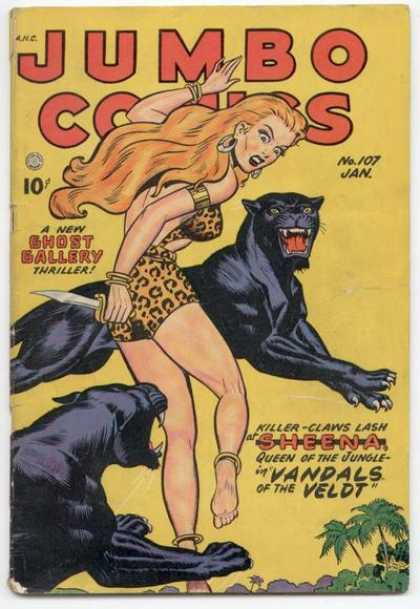 Jumbo Comics 107 - Ghost Gallery - Sheena - Black Panthers - Vandals Of The Veldt - Dagger