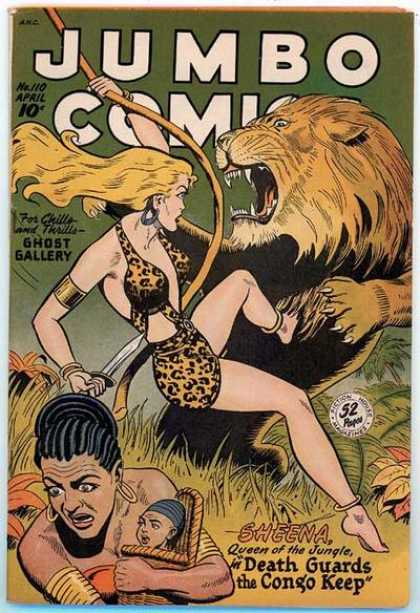 Jumbo Comics 110 - Lion - Sheena - April - Knife - Ghost Gallery