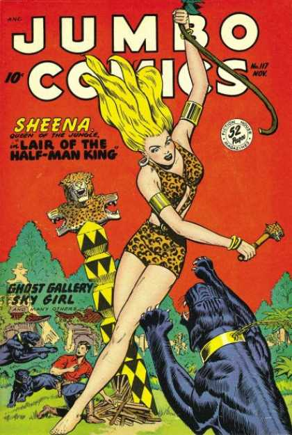 Jumbo Comics 117 - Panther - Sheena - Jungle Queen - Ghost Gallery - Sky Girl