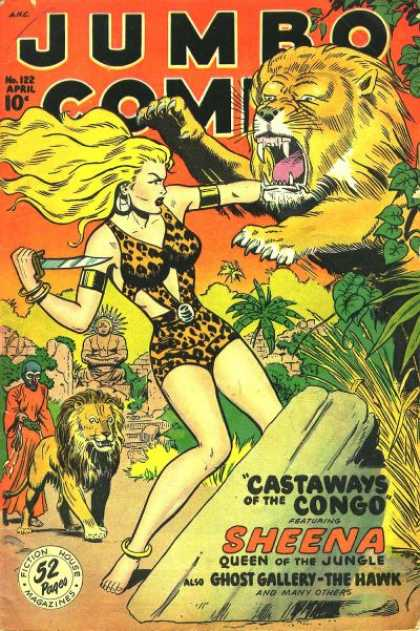 Jumbo Comics 122 - Sheena - Lion - Knife