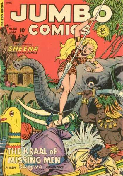 Jumbo Comics 137 - Elephant - July - Sheena - Blade - Jungle