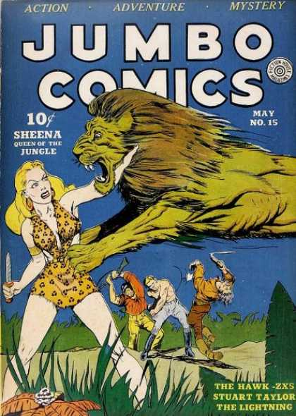 Jumbo Comics 15 - Lion - Knife - Sheena