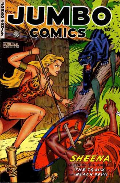 Jumbo Comics 154 - Sheena - Panther - Queen Of The Jungle - Black Panther - Track Of Black Devil