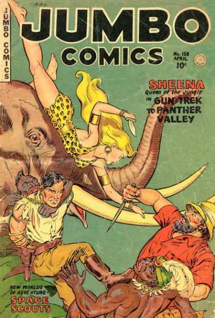 Jumbo Comics 158 - Sheena - Elephant