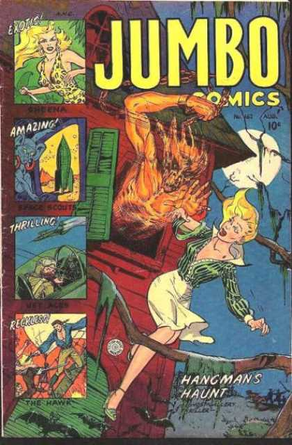 Jumbo Comics 162 - Hangman - Exotic - Bats - Fire - House