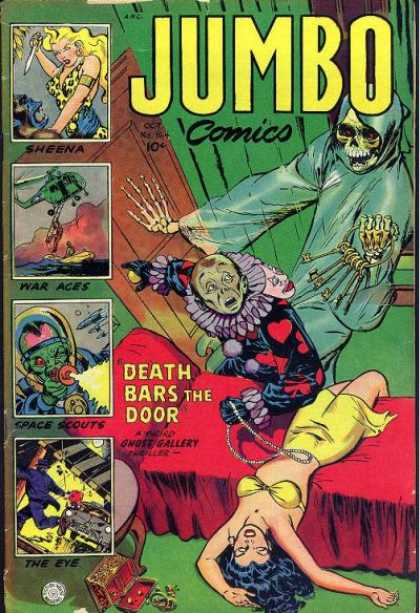 Jumbo Comics 164 - Ghost - Clown - Sheena - Death