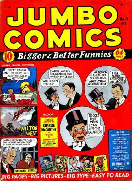 Jumbo Comics 2 - Bigger U0026 Better Funnies - Charlie Mccarthy - Wilton West - Jumbo Jim - Big Pages