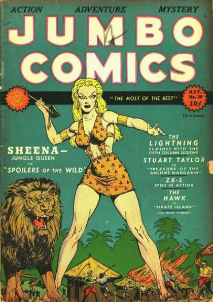 Jumbo Comics 20 - Lion - Sheena