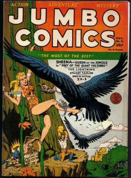 Jumbo Comics 21 - Vulture - Adventure - Action - Mystery - 10 Cents