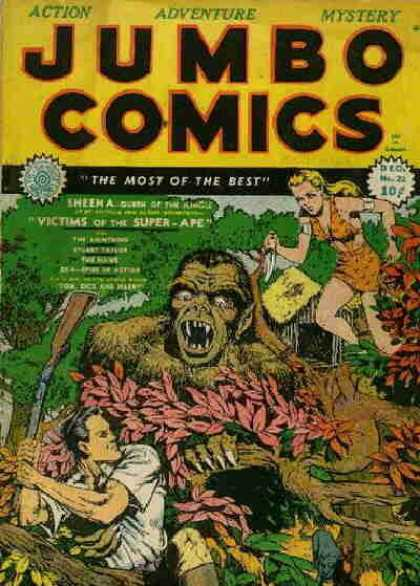 Jumbo Comics 22 - Jungle - Monster - Action - Adventure - Fight