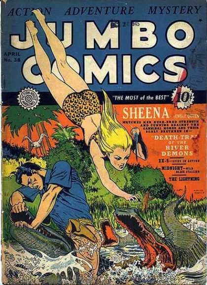 Jumbo Comics 38 - Sheena - Crocodiles