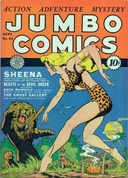 Jumbo Comics 43 - Sheena - Beats - Queen - Drew Murdoch - Ghost