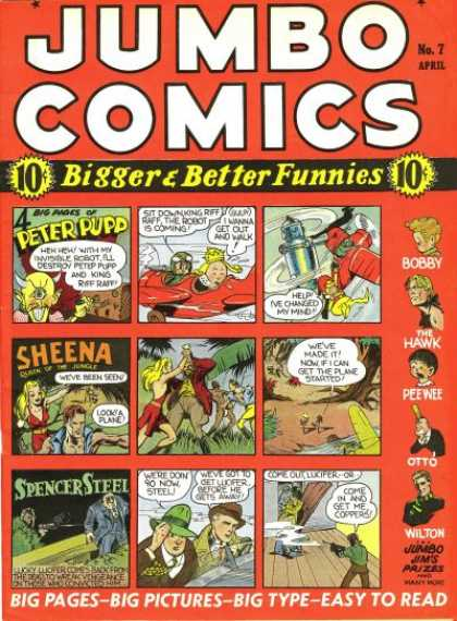 Jumbo Comics 7 - Jungle - Sheena - Gun - Crown - Hats