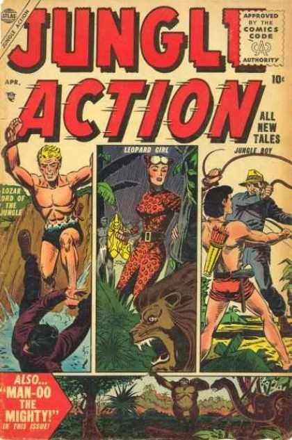 Jungle Action 4 - Lion - Snake - Monkey - Watter - Arrows