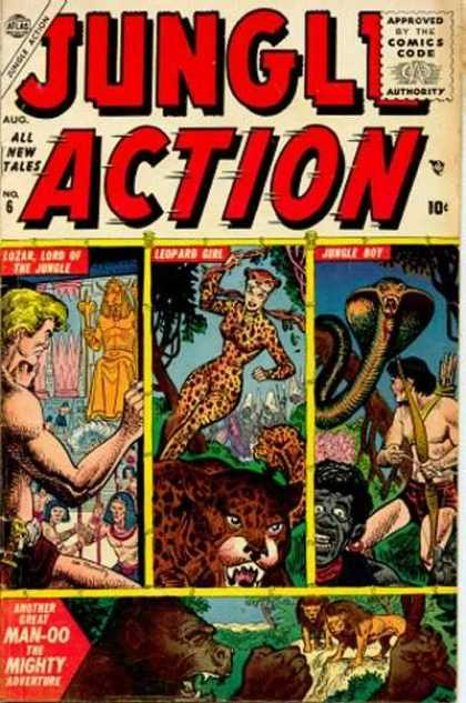 Jungle Action 6 - Leopard Girl - Jungle Boy - Gorilla - Lions - Cobra - Richard Buckler