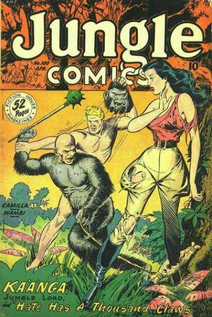 Jungle Comics 100 - Gorilla Costume - Camilla Wambi - Kaanga - Jungle Lord - Hate Has A Thousand Claws