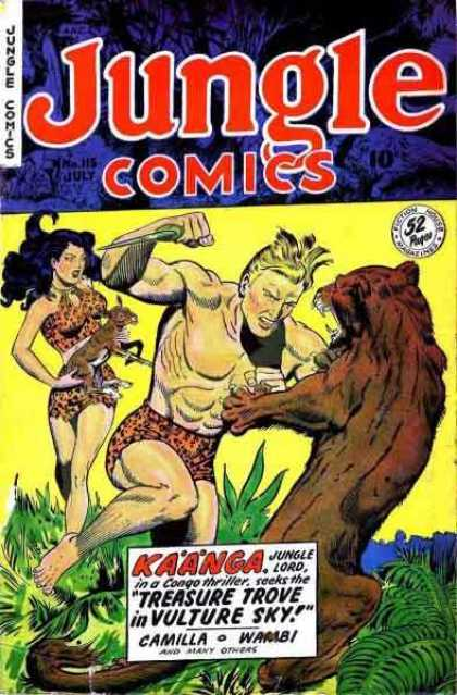 Jungle Comics 115 - Knife - Kaanga - July - Babe - Animal