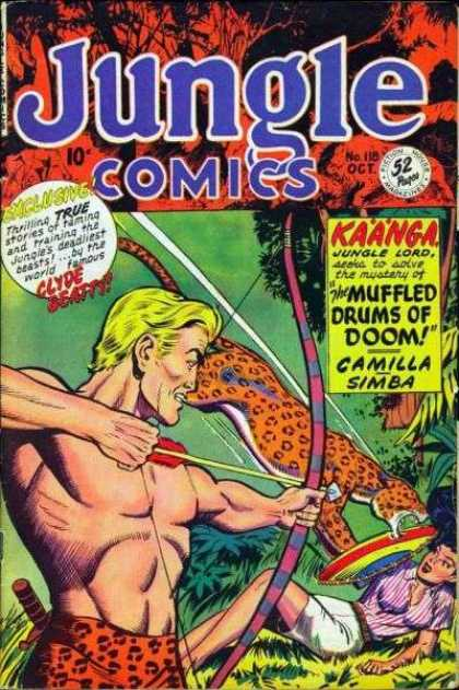Jungle Comics 118 - Kaanga - Muffled Drums Of Doom - Clyde Beatty - Issue 118 - October Issue