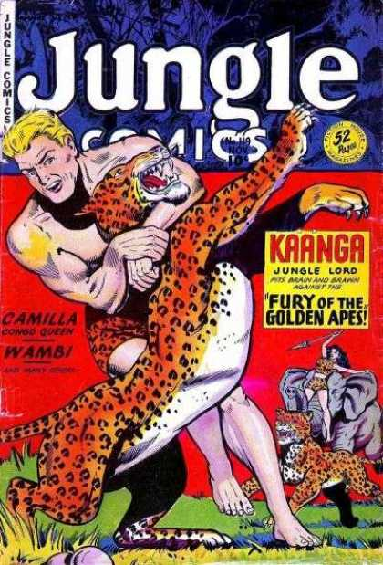 Jungle Comics 119 - Kaanga - Fury Of The Golden Apes - Camilla Congo Queen - Wambi - Jaguar
