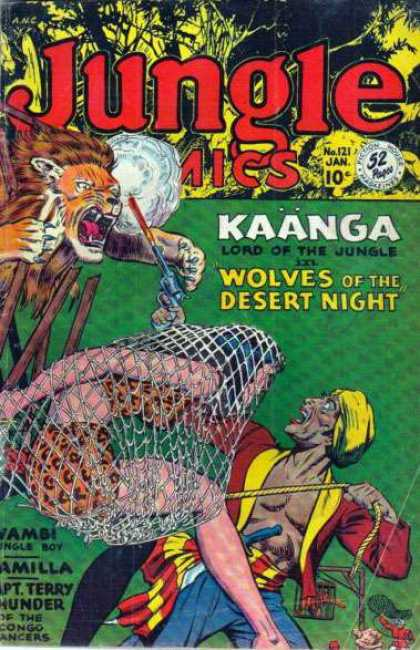 Jungle Comics 121 - Kaanga Lord Of The Jungle - Wolves Of The Desert Night - Lion - Jungle Woman - Native