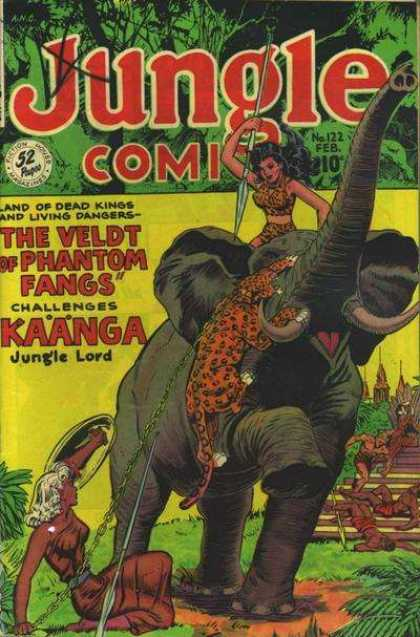Jungle Comics 122 - Phantom Fangs - Jungle Lord - Kaanga
